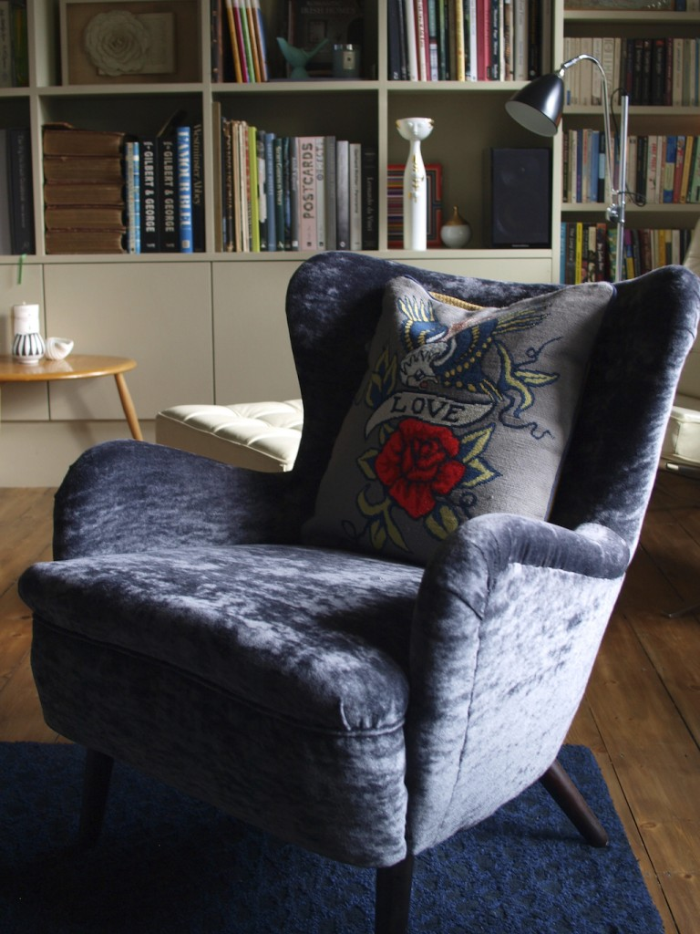 Blackheath Library Ernest Race DA2 Armchair with Fine Cell Work Cushion