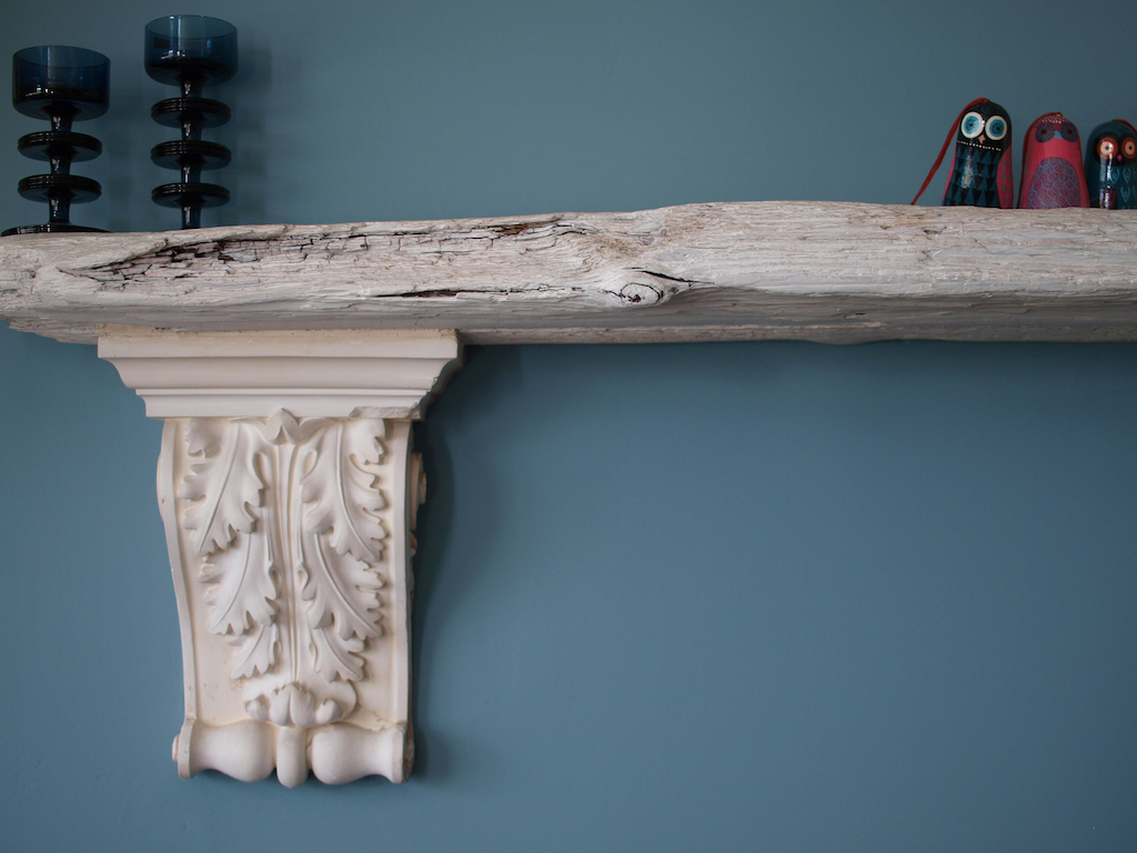 Blackheath Library Driftwood mantel Egon Walesch Interior Design