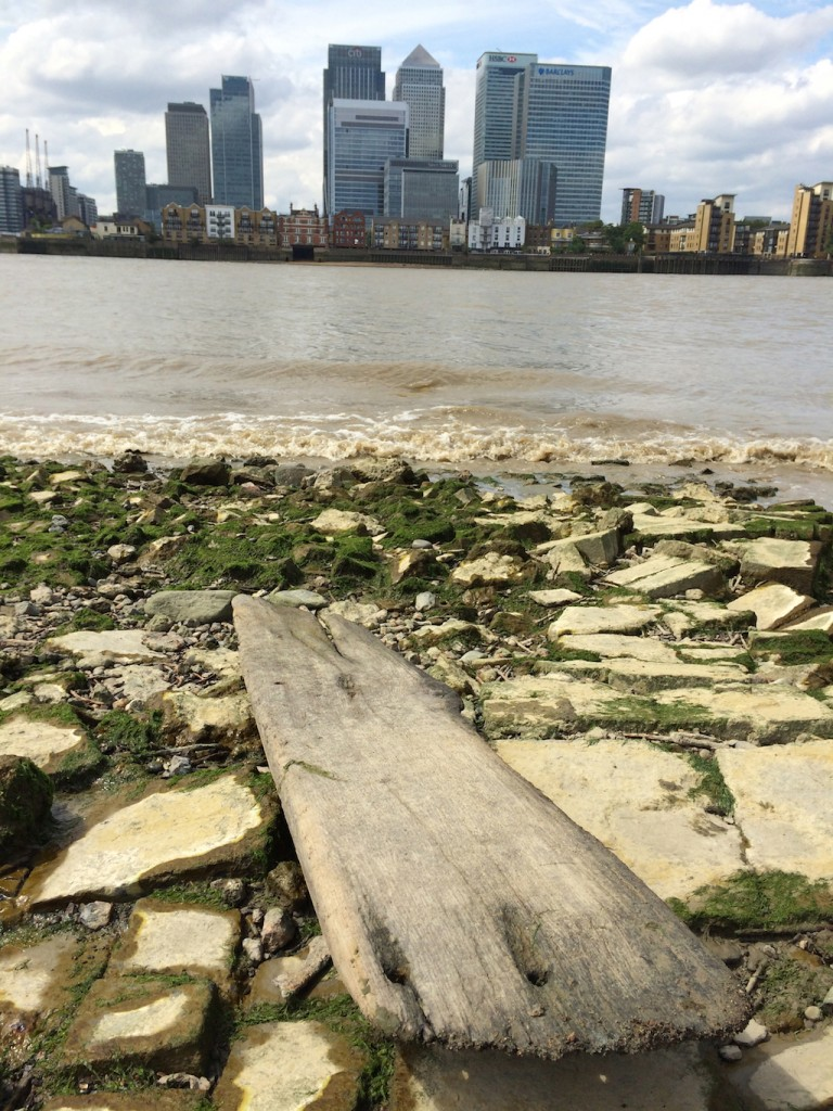 Driftwood on river Thames for a mantelpiece