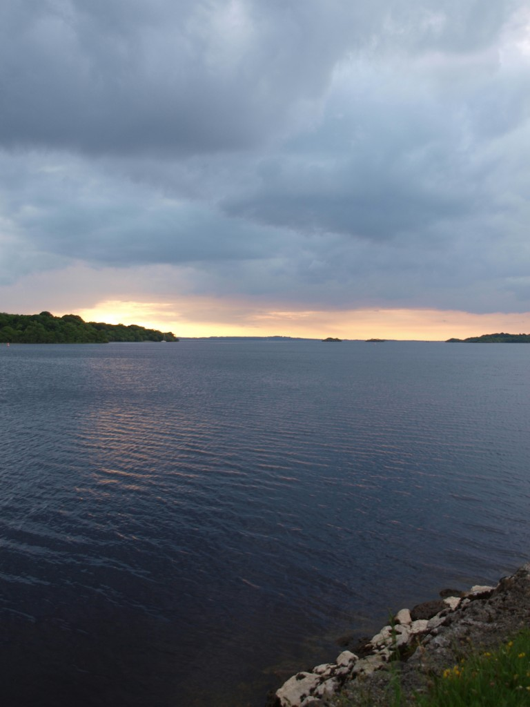 Killinure cottage Lough Ree evening view of lake