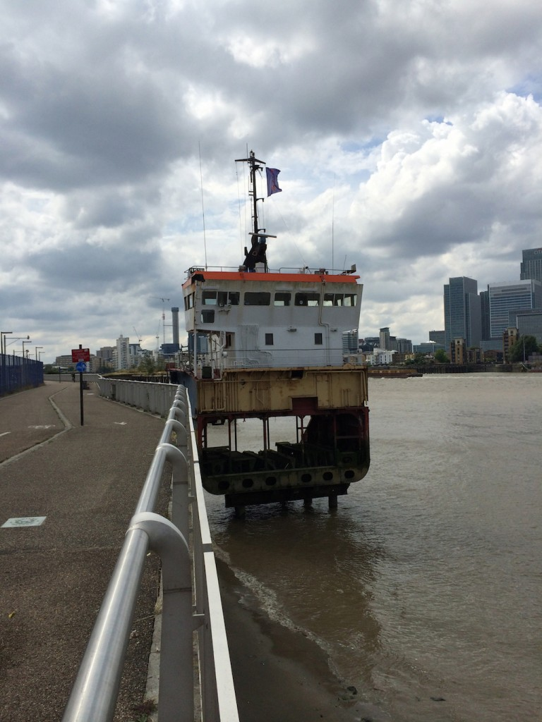 Richard Wentworth Slice of Reality North Greenwich Thames Path