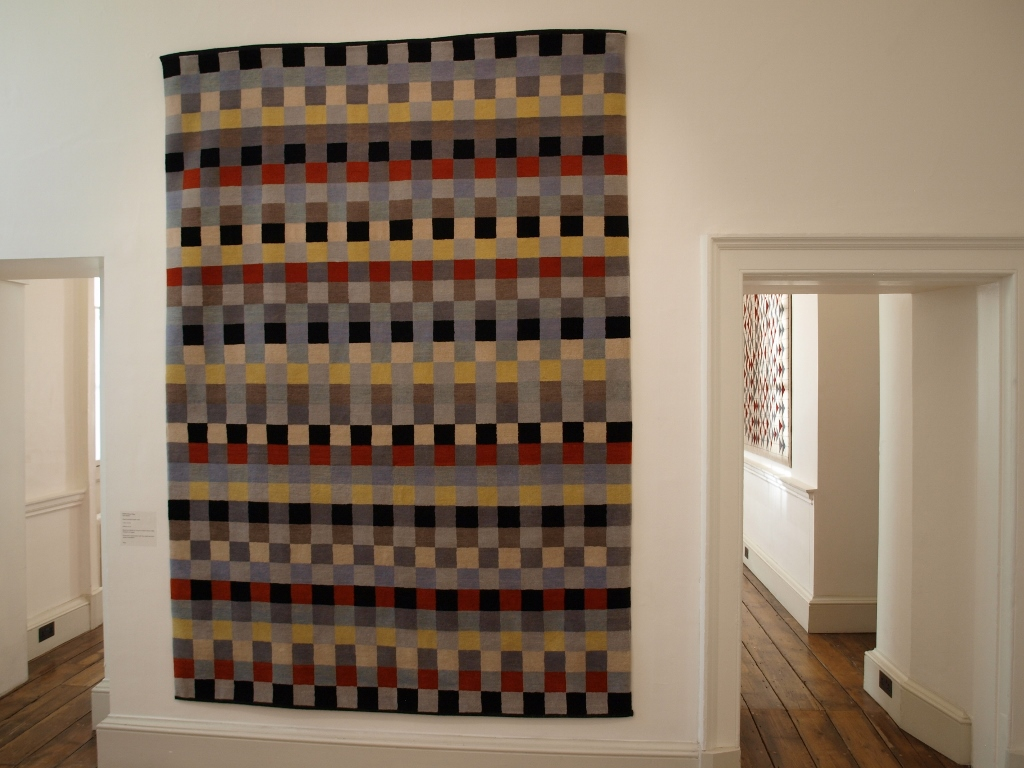 Form Through Colour exhibition Somerset House Josef and Anni Albers Gary Hume Christopher Farr carpets fabrics tapestries cushions rugs Egon Walesch interior design Homage to the Square Interaction of colour