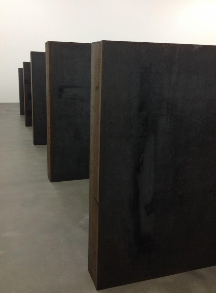 Richard Serra Gagosian Gallery Britannia st London Iron Steel weathered Backdoor Pipeline Ramble Dead Load London Cross