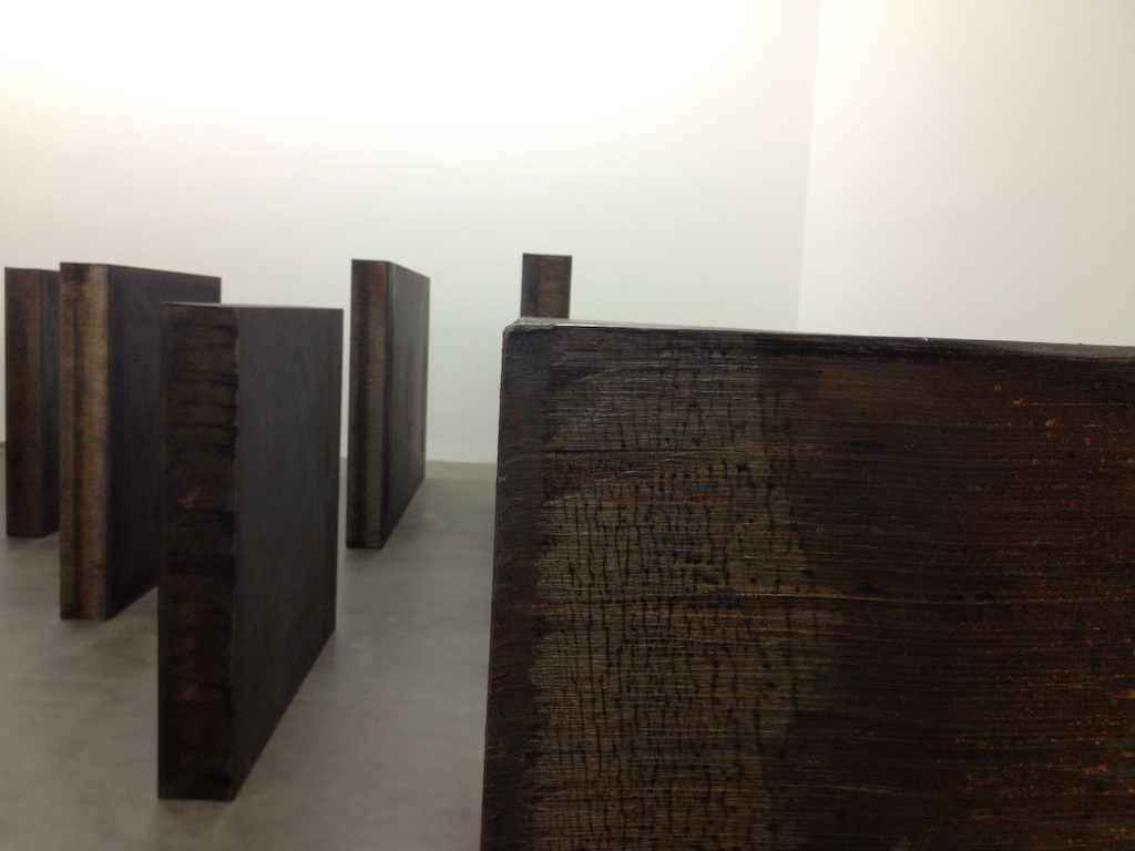 Richard Serra Gagosian Gallery Britannia st London Iron Steel weathered Backdoor Pipeline Ramble Dead Load London Cross
